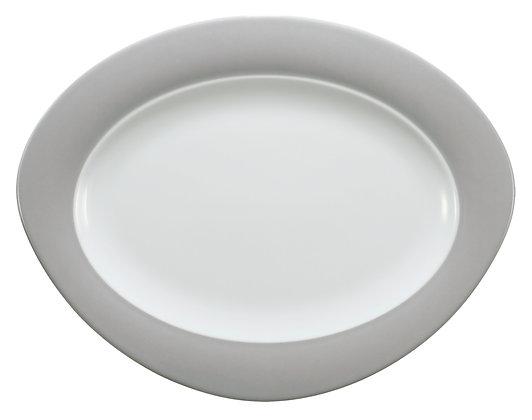 Trio Steingrau Platte oval 35x27 cm