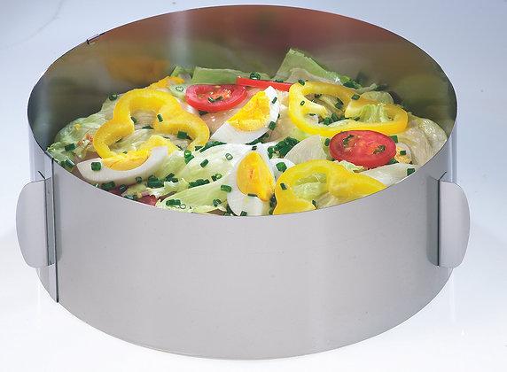 Tortenring TONDO XXL mit Verstellgriffen, H 10 cm