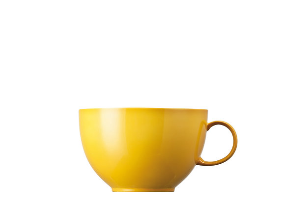 Sunny Day Yellow Cappuccino-Obertasse