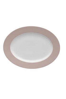 Sunny Day Rose Powder Platte oval 33 cm