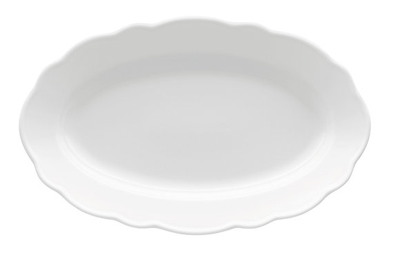 Maria-Theresia weiß Platte oval (35cm)
