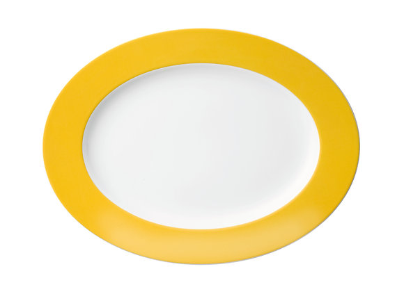 Sunny Day Yellow Platte oval 33 cm