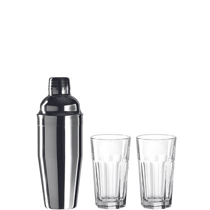 Trinkgläser/Shaker LIMITO 3-teilig