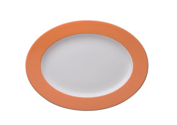 Sunny Day Orange Platte oval 33 cm