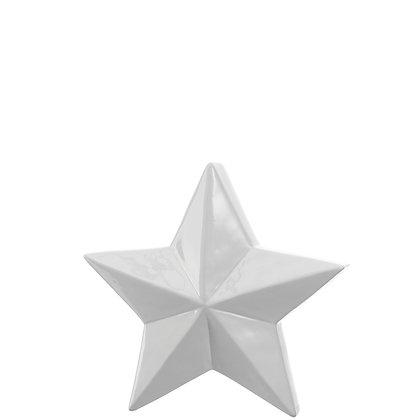 Keramikstern VELLUTO weiß 21cm