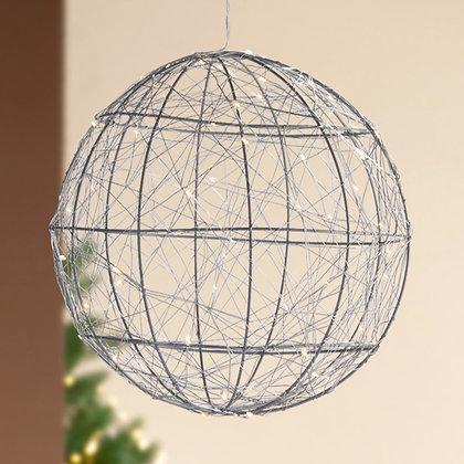 LED-Kugel silber