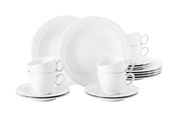 Trio weiß Kaffee-Set 18 tlg.für 6 Personen