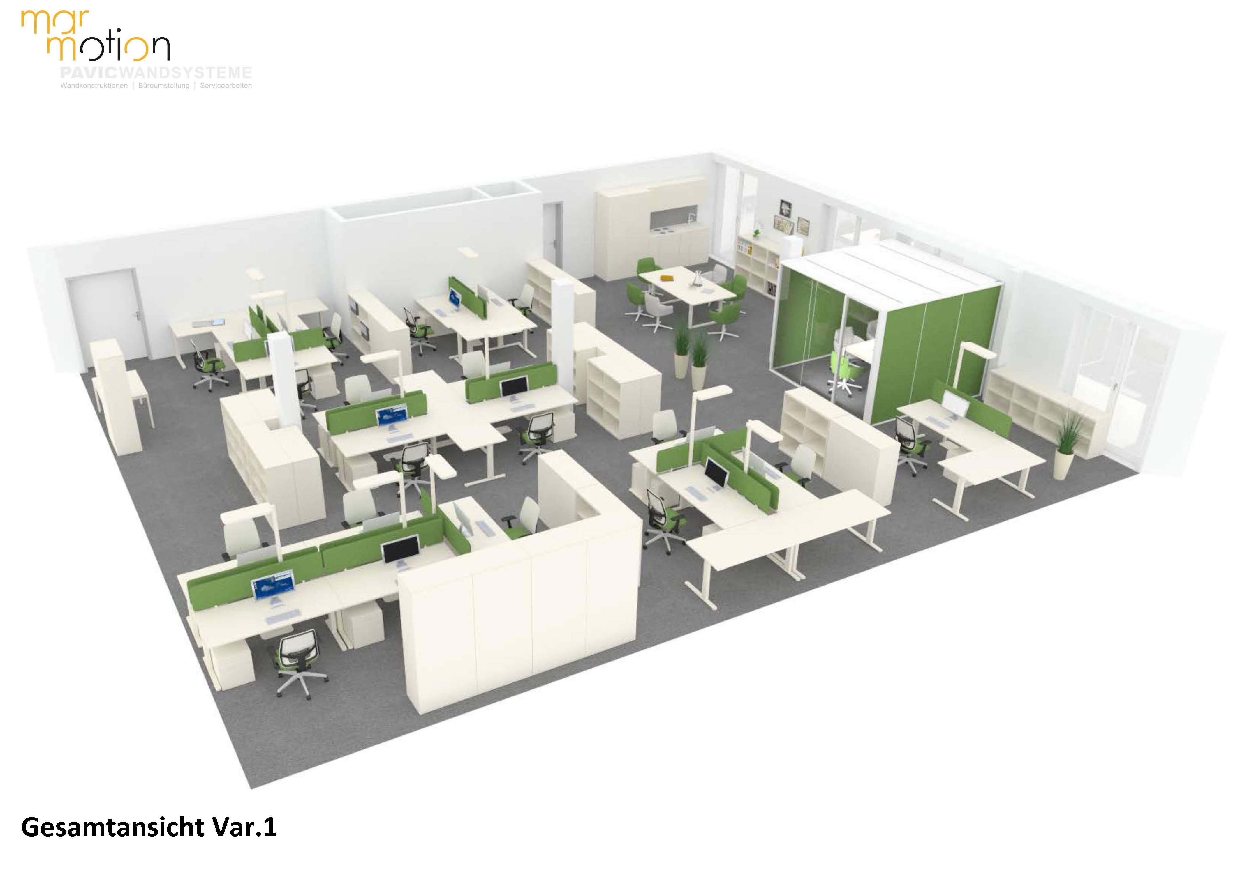 Visualisierung Büroeinrichtung