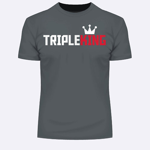 TripleKing T-Shirt Horizontal Grey