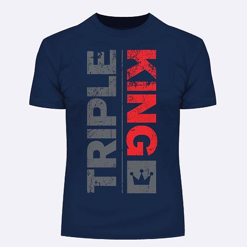 TripleKing T-Shirt Used Effect Navy