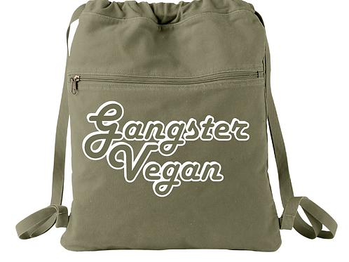 Gangster Vegan Cinch Sack Canvas Drawstring Backpack Bag