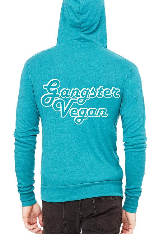 Gangster Vegan Zip-Up Pullover Hoodie for Men and Women
