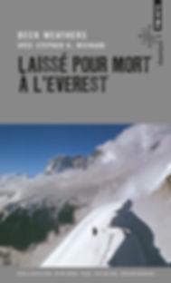 """Couverture du livre """"Laissé pour pour à l'Everest"""""""