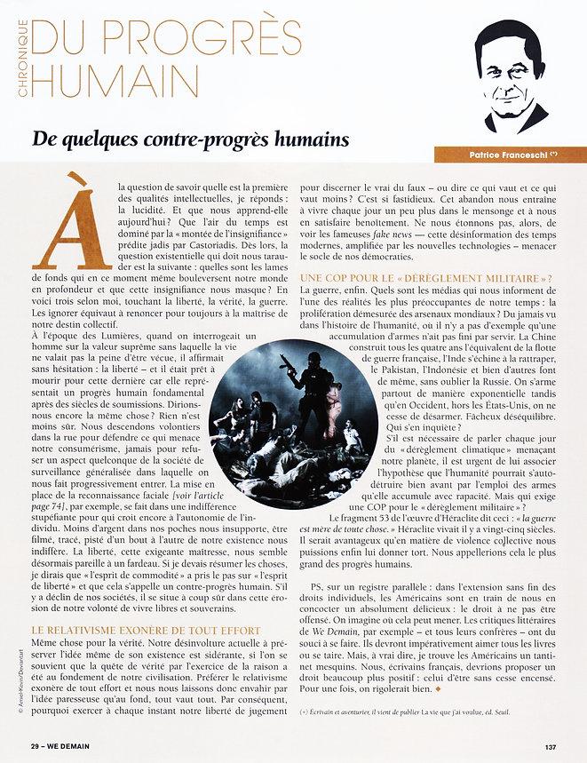chronique de la revue WeDemain n°29