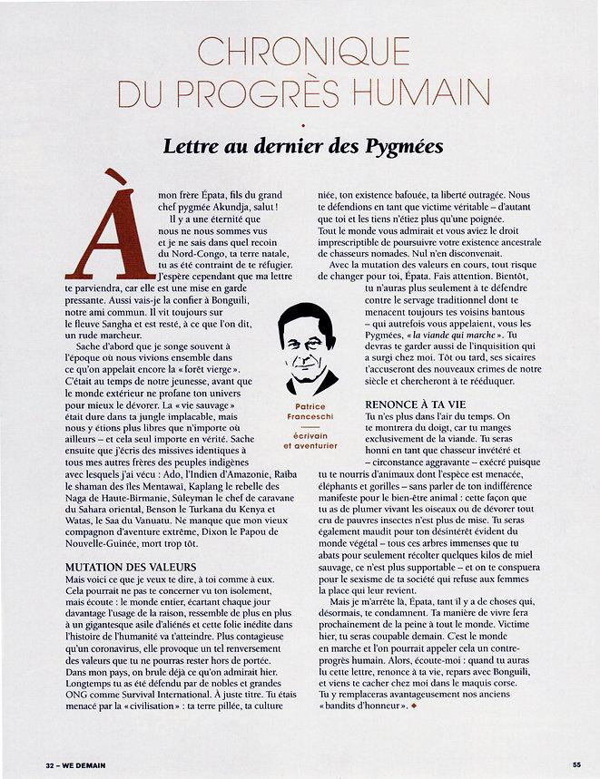 chronique de la revue WeDemain n°32