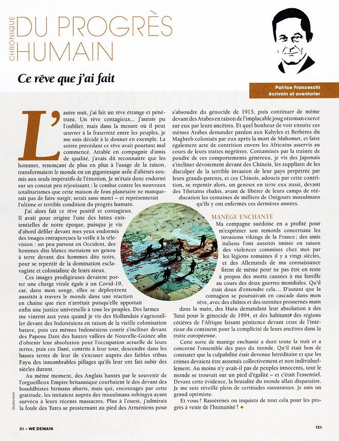 chronique de la revue WeDemain n°31