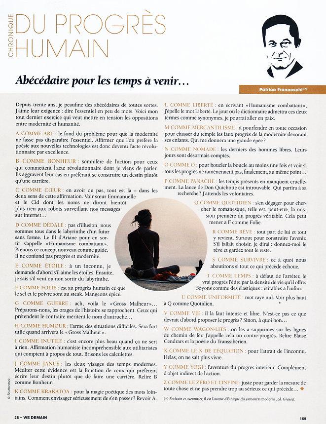 chronique de la revue n°28 de WeDemain