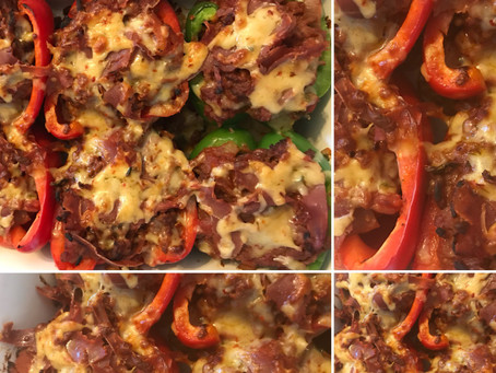 Stuffed Peppers with Mexican Cheese