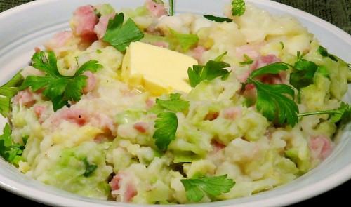 Irish Cabbage & Ham with Creamy Mash withloverecipes.com