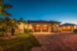 Mediterranean home design, Florida homes, paver driveway