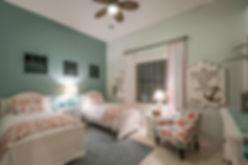 Twin bedroom, wayfair, DIY curtains
