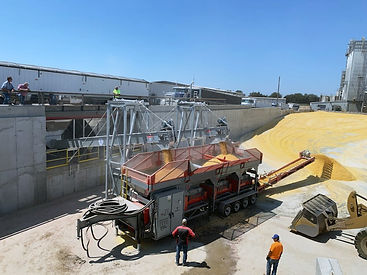 Automatic ATG20000 High Capacity Roller Mill processing livestock feed on a large-scale farm