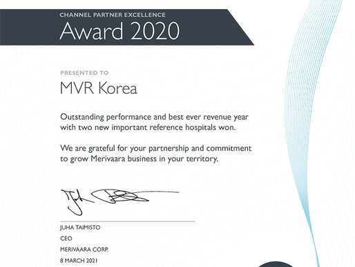One of the Best in Class performers was MVR Korea Team!