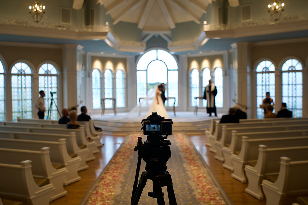 BTS Shot of the camera capturing one of the angles of the ceremony