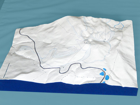 Partie basse du projet de station au Liban – Mont Sannine