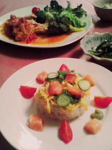 ひな祭りの日の夕食の一部