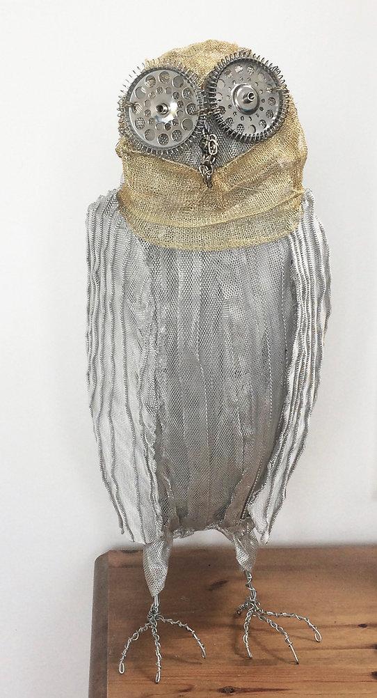 I am Owl. Recycled materials, indoor sculpture.jpg