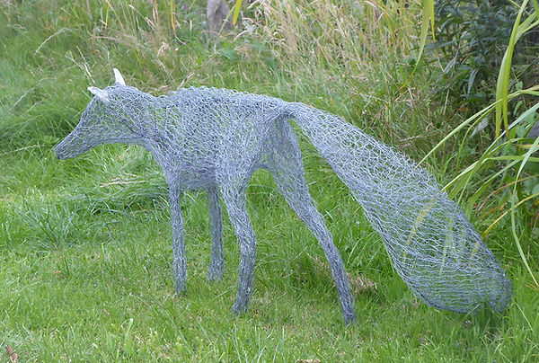 Silver Fox; mixed wire garden sculpture.jpg