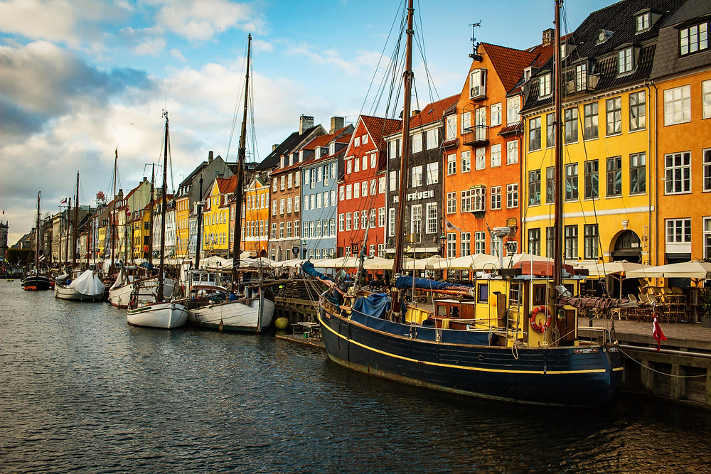 A view of color Copenhagen/Nyhavn District.