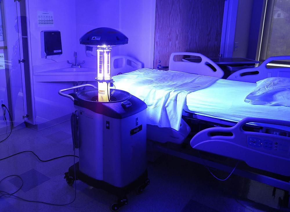 Uv lights, coronavirus, sterilization, hospital