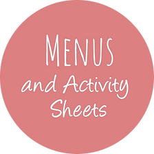 kids menu activity sheet design