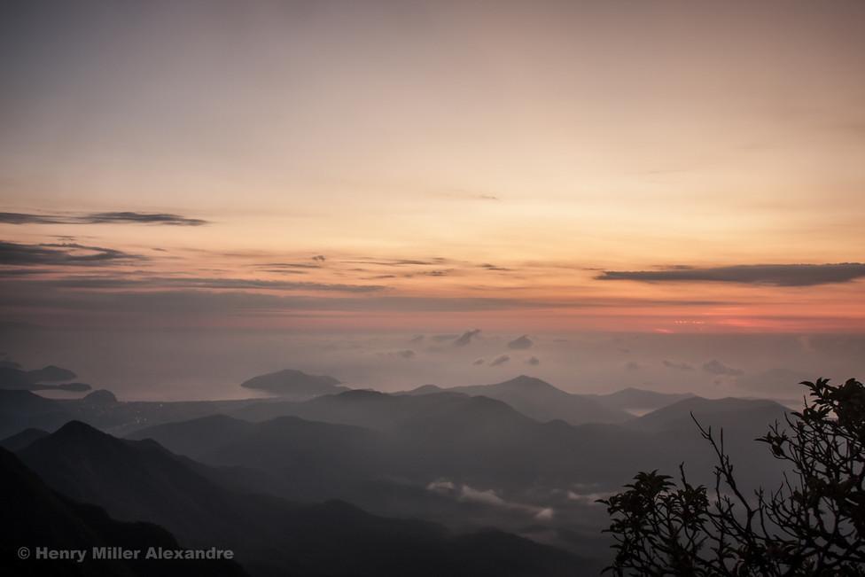 Corcovado mountain at Dawn