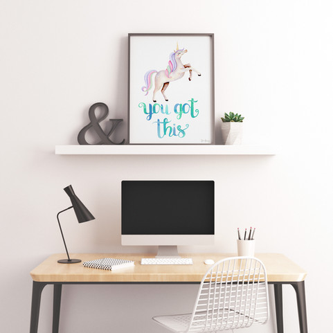 S6-UnicornRainbow-YouGotThis-Poster-Frame-Style-174A.jpg