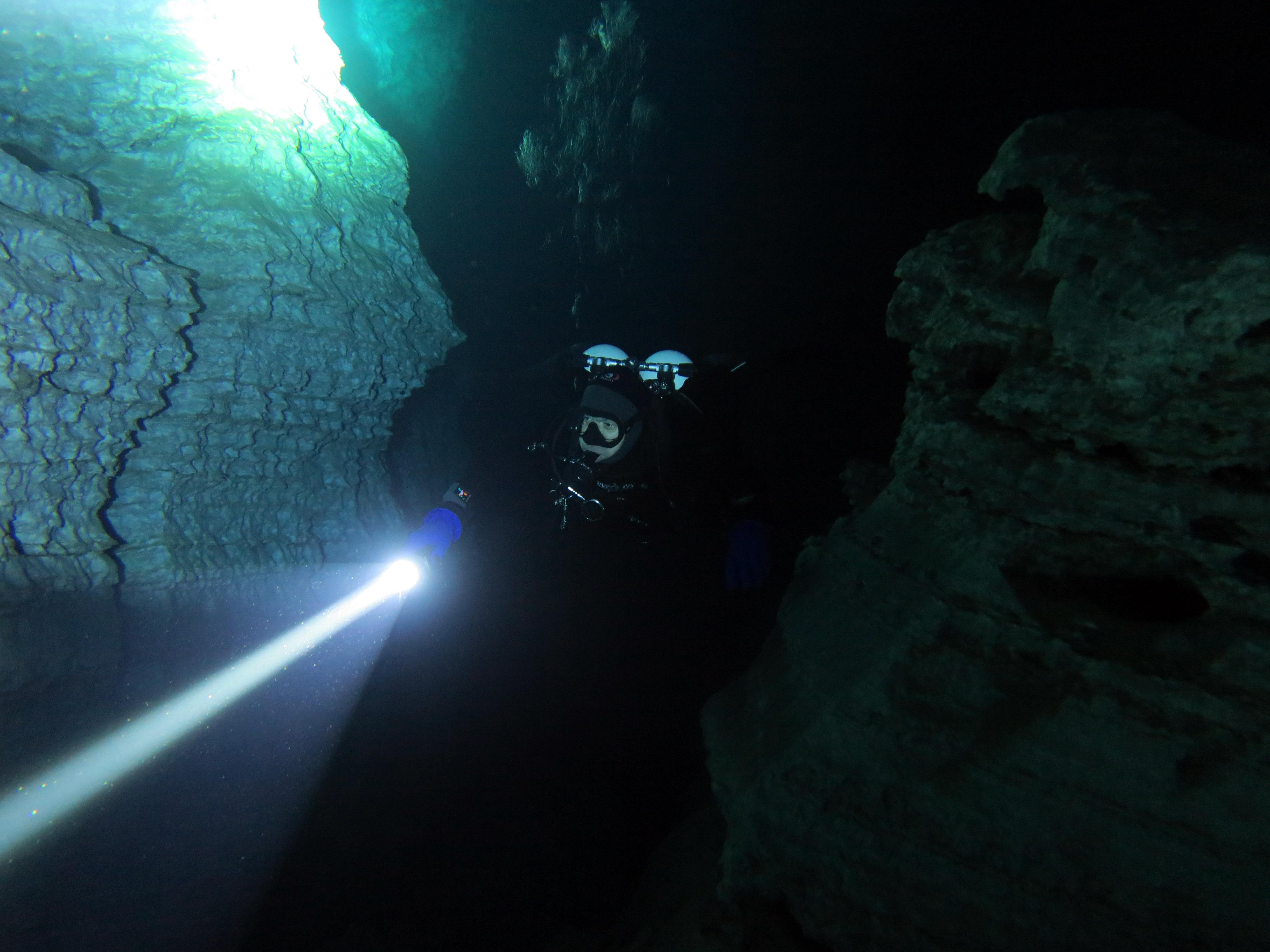 Дайвинг в Ординской пещере