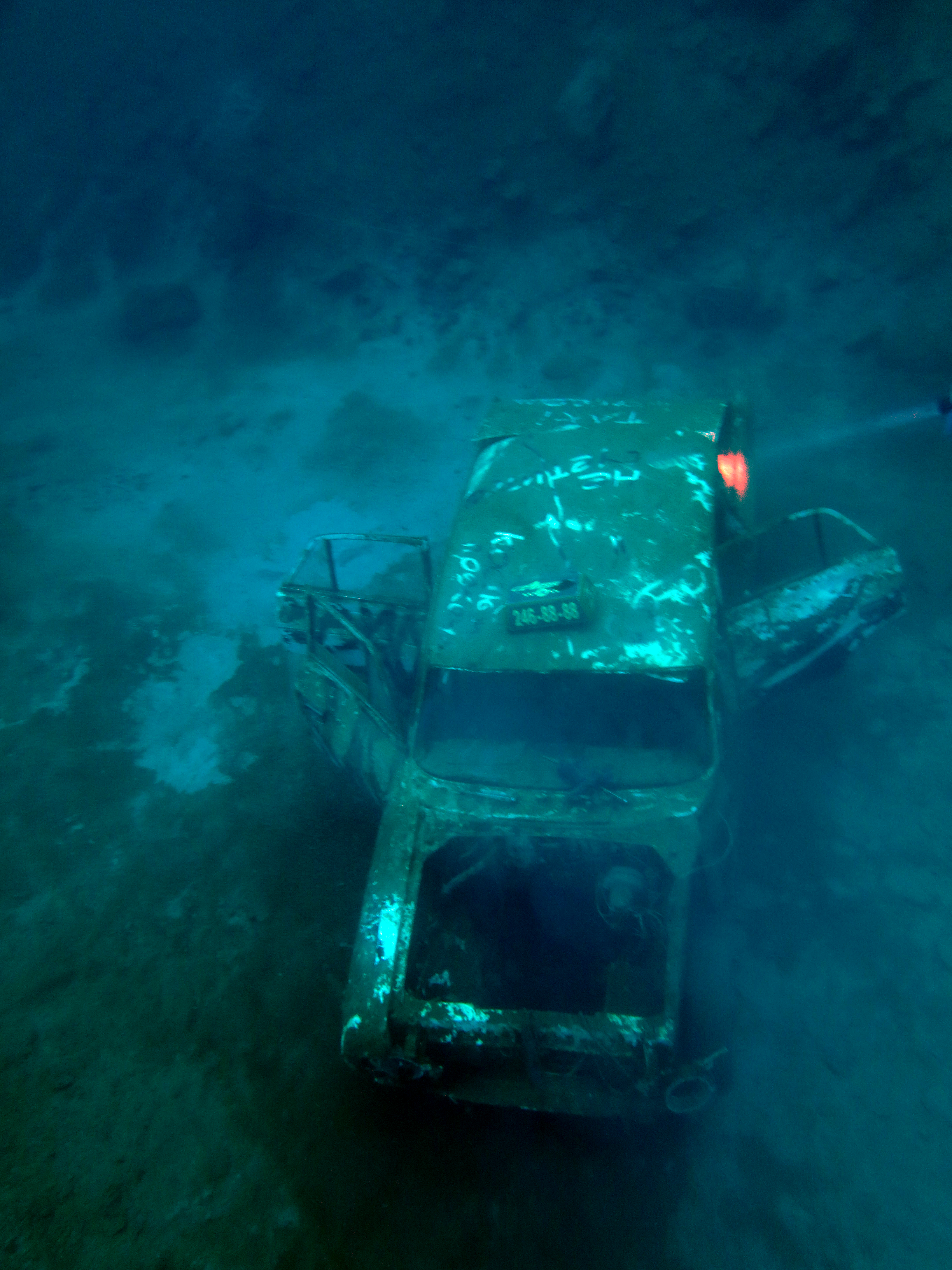 Diver's car