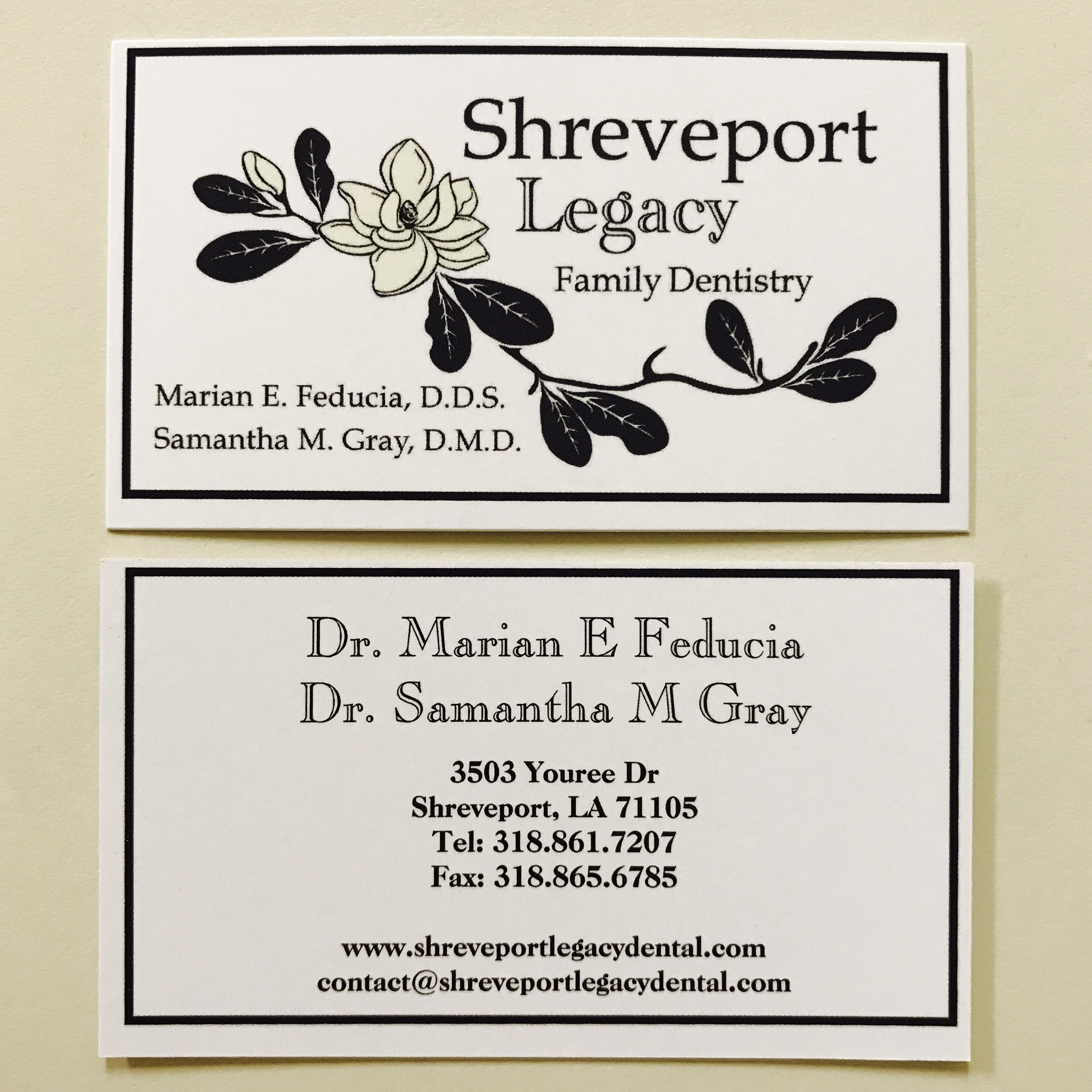 Blog youree dr shreveport legacy family dentistry in addition to new business cards we have a beautiful new sign for the waiting room and our chairs are now a shiny navy reheart Image collections