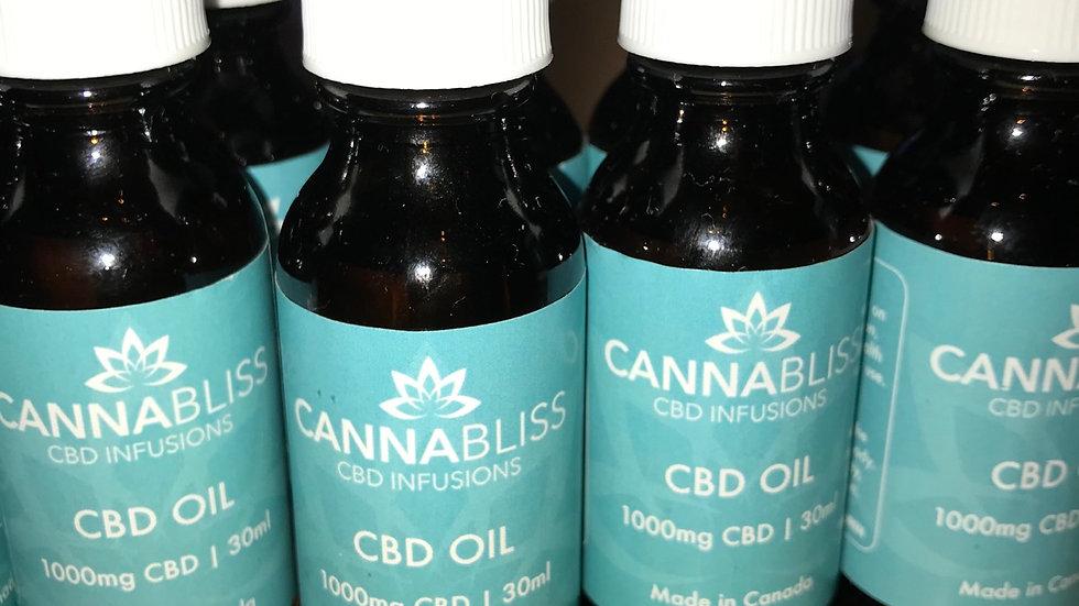 Cannabliss CBD Oil 1000mg $60