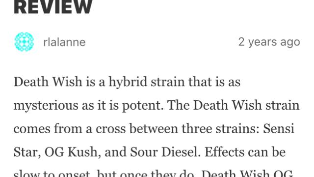 Deathwish Small. Indica $4