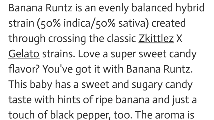 Banana Runtz 🍌 50/50 Hybrid