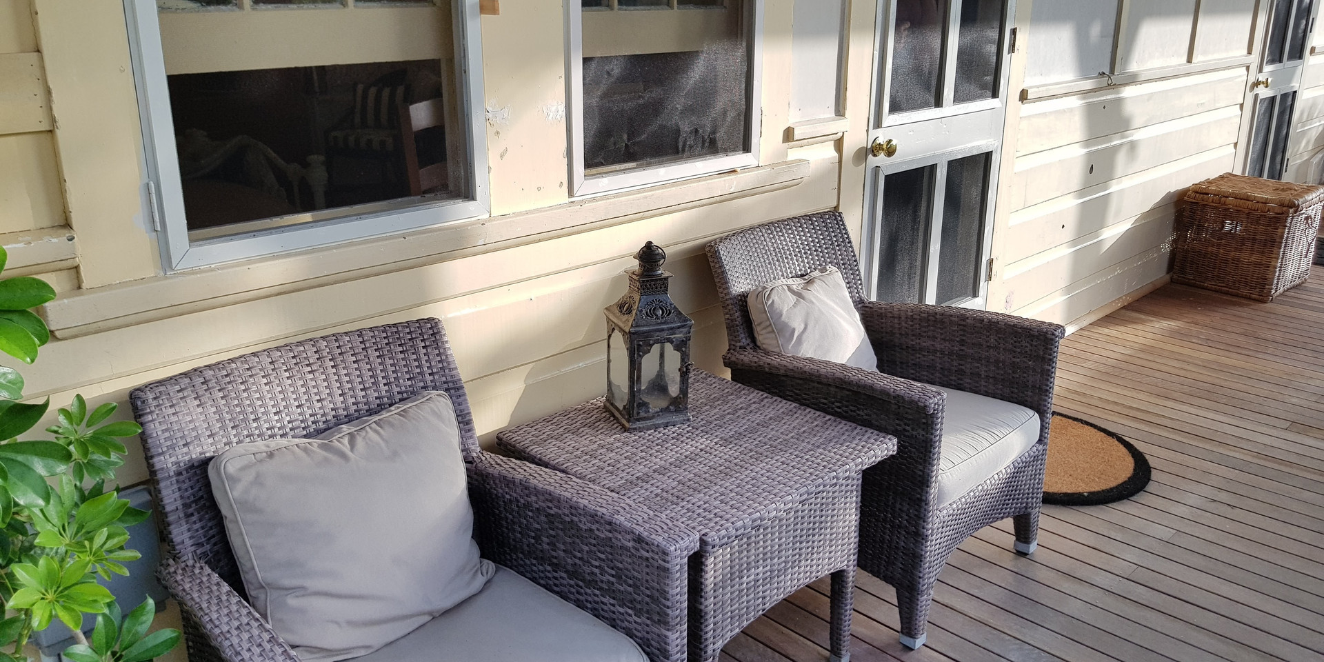 Private deck outside your entrance