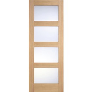 new style f1842 46308 Lpd Contemporary Unfinished Oak Frosted Glazed internal door