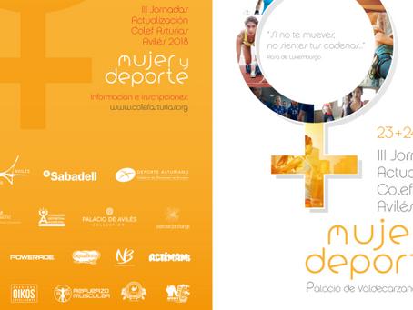"""Las jornadas anuales de actualización de COLEF Asturias este año se centrarán en """"Mujer y Depor"""