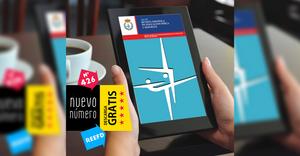 Tableta electrónica con la portada de la REEFD
