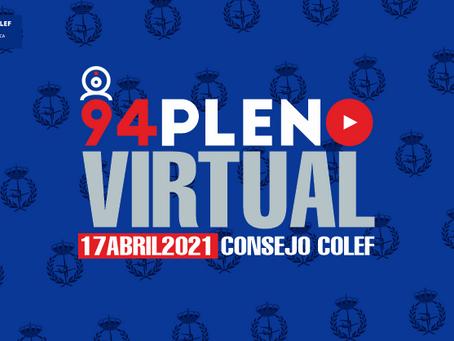 94º Pleno del Consejo COLEF: caminando hacia unas estructuras colegiales garantistas