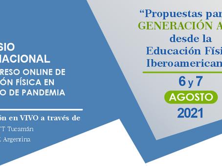 """""""Propuestas para la Generación Alfa de la Educación Física Iberoamericana"""", 6 y 7 de agosto"""