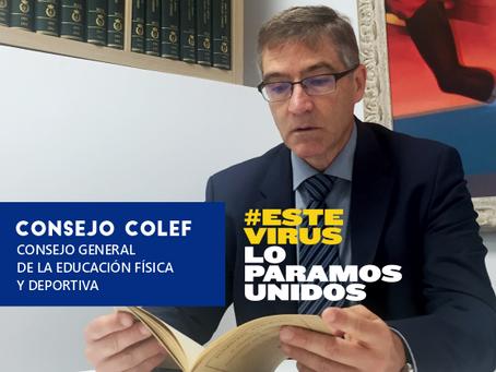 #YoMeMuevoEnCasa, campaña del Consejo COLEF durante el Estado de Alarma